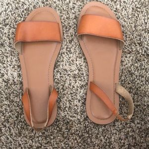 Flat Sandals By Express Fall Orange